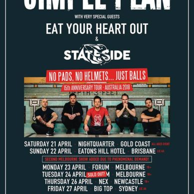 SIMPLE PLAN – FORUM THEATRE MELBOURNE 23/04/18
