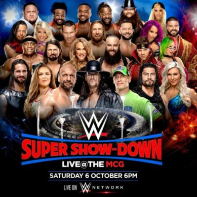WWE TO BRING PPV SHOW TO MCG IN OCTOBER
