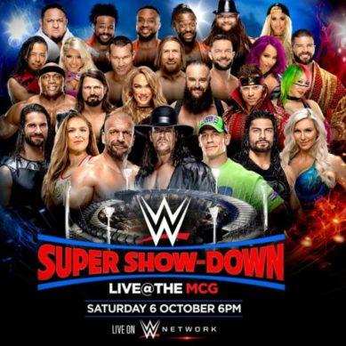 WWE SUPER SHOWDOWN MCG OCT 6TH