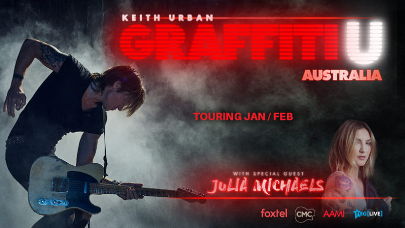 KEITH URBAN GRAFFITTI U AUSTRALIAN TOUR