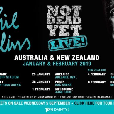 "PHIL COLLINS – ""IM NOT DEAD YET"" MELBOURNE 01/02/19"