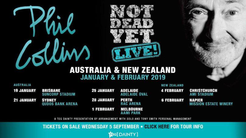 "PHIL COLLINS – ""IM NOT DEAD YET"" MELBOURNE 01/02/19"